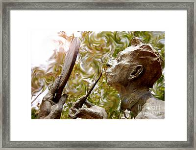 Painted Lips Framed Print by Andrea Aycock