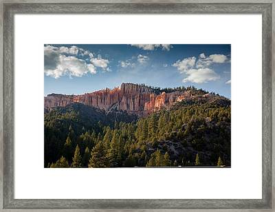 Painted Mountains Framed Print by Margaret Buchanan