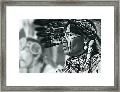 Painted Native In Silver Screen Tone Framed Print by Scarlett Images Photography