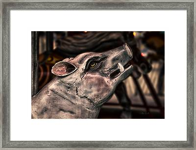 Painted Pig Ride Framed Print by Bob Orsillo