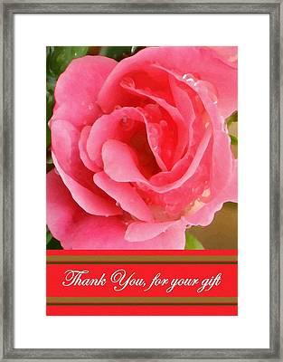 Painted Pink Rose Framed Print by Madeline  Allen - SmudgeArt