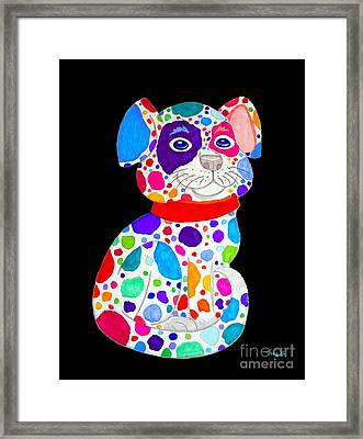 Painted Pooch 2 Framed Print by Nick Gustafson