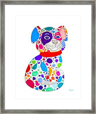 Painted Pooch Framed Print by Nick Gustafson