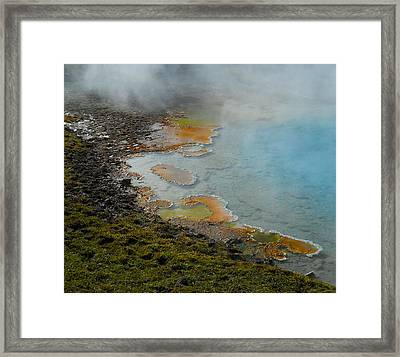 Framed Print featuring the photograph Painted Pool Of Yellowstone by Michele Myers
