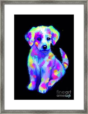 Painted Pup 2 Framed Print by Nick Gustafson