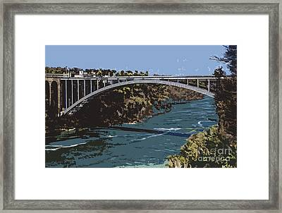 Framed Print featuring the photograph Painted Rainbow Bridge by Jim Lepard