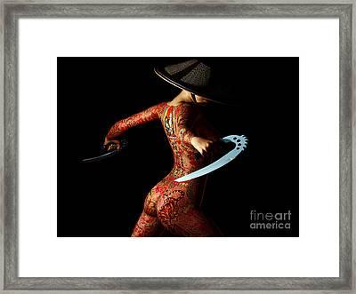 Painted Risks 2 Framed Print by Alexander Butler
