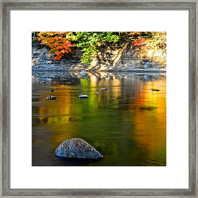 Painted River Framed Print by Frozen in Time Fine Art Photography
