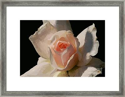 Painted Rose Framed Print by Lois Bryan