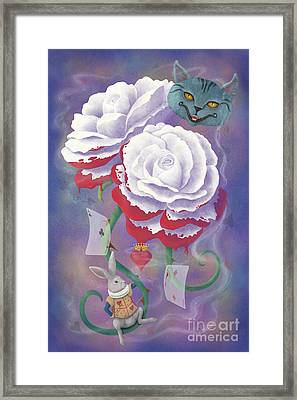 Painted Roses For Wonderland's Heartless Queen Framed Print by Audra D Lemke