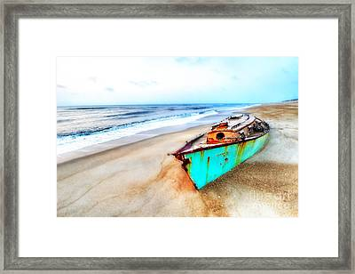 Painted Shipwreck On The Outer Banks Framed Print
