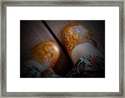 Painted Shoes Framed Print