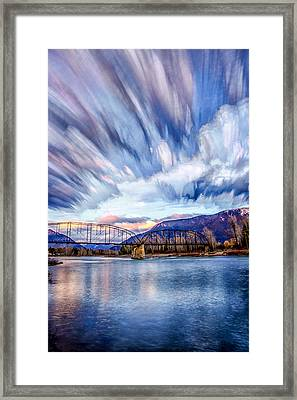 Painted Skies Framed Print by Aaron Aldrich