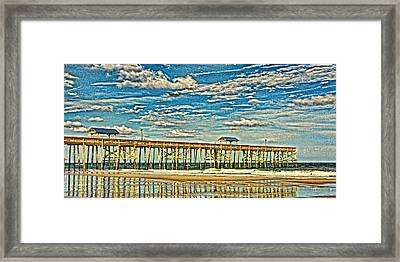 Surreal Reflection Pier Framed Print by Paula Porterfield-Izzo