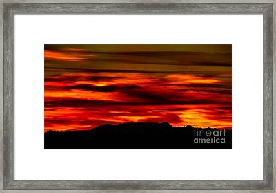 Framed Print featuring the photograph Painted Sky 34 by Mark Myhaver