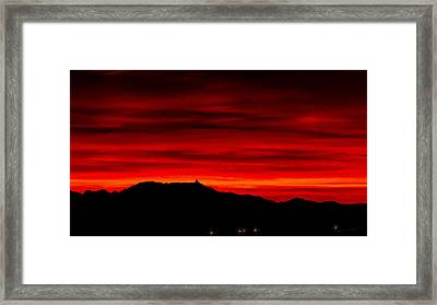 Framed Print featuring the photograph Painted Sky 36 by Mark Myhaver