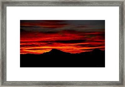 Framed Print featuring the photograph Painted Sky 45 by Mark Myhaver