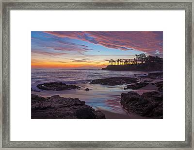 Painted Sky Laguna Beach Framed Print