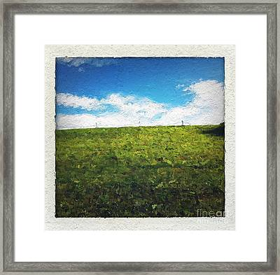 Painted Sky Framed Print by Linda Woods