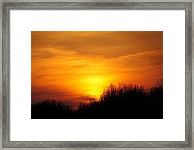Painted Sky Framed Print by Frozen in Time Fine Art Photography