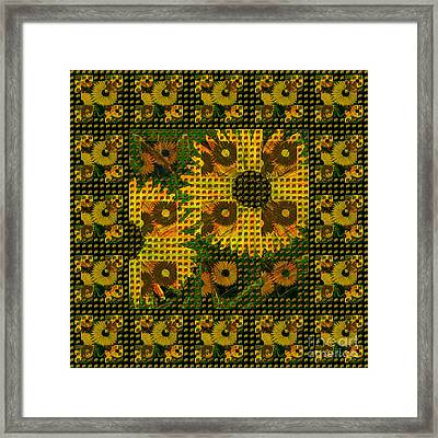 Painted Sunflower Abstract Framed Print