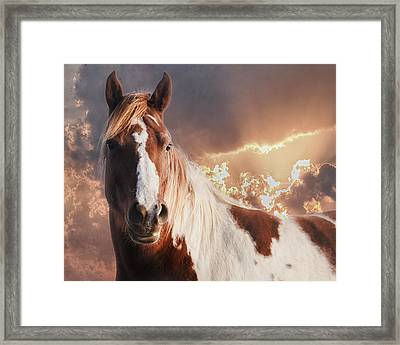 Painted Sunrise Framed Print by Ron  McGinnis