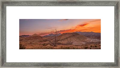 Painted Sunset Framed Print by Ryan Manuel