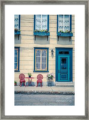 Painted Townhouse In Old Quebec City Framed Print