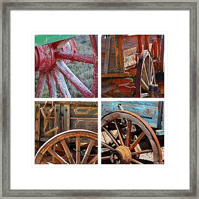 Painted Wagons Framed Print by Art Block Collections