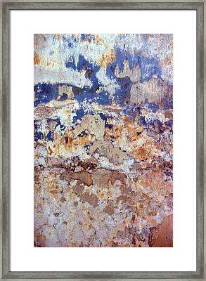 Painted Wall Abstract Framed Print by Ben Kotyuk