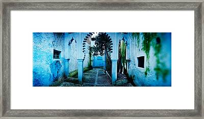 Painted Wall Of Medina, Chefchaouen Framed Print by Panoramic Images