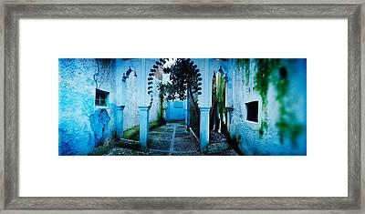 Painted Wall Of Medina, Chefchaouen Framed Print
