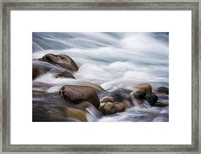 Framed Print featuring the photograph Painted Water by Brian Bonham