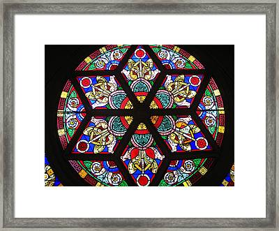 Painted Window Framed Print by Bruce Carpenter