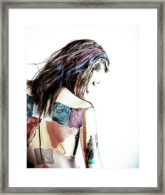 Painted Woman Framed Print by Scott Sawyer