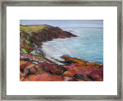 Painterly - Bold Seascape Framed Print by Quin Sweetman
