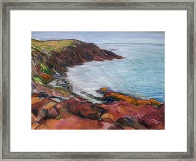 Painterly - Bold Seascape Framed Print