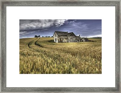 Painterly Farmhouse Framed Print by Latah Trail Foundation