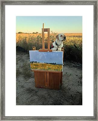 Painterly Lab Framed Print