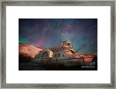 Painterly Northern Lights Framed Print