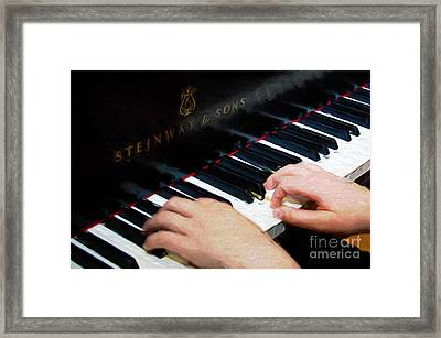 Painterly Playing A Steinway Piano Framed Print