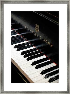 Painterly Steinway Piano Framed Print