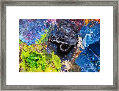 Painter's Palette Framed Print by Delphimages Photo Creations