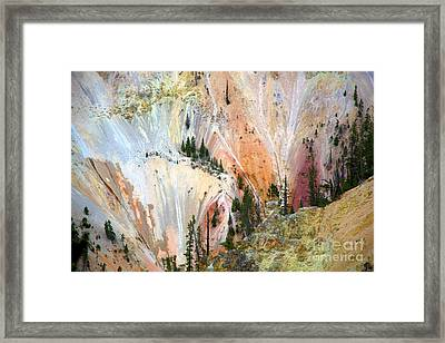 Painter's Point Yellowstone  Framed Print by Terry Horstman