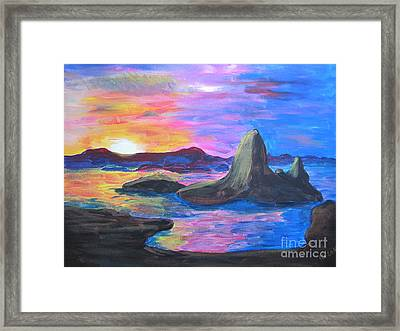 Painting     Grand Finale Framed Print by Judy Via-Wolff