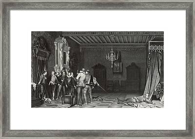 Painting By Paul Delaroche Assassinat Du Duc De Guise Au Framed Print by Artokoloro