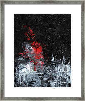 Painting Death Framed Print by Sean Seal