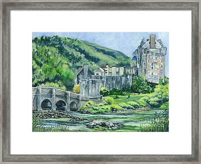 Eilean Donan Medieval Castle Scotland Framed Print