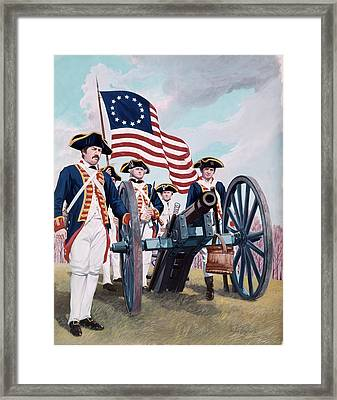 Painting Illustration Of Artillery Framed Print