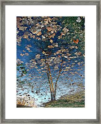 Painting In A Puddle Framed Print